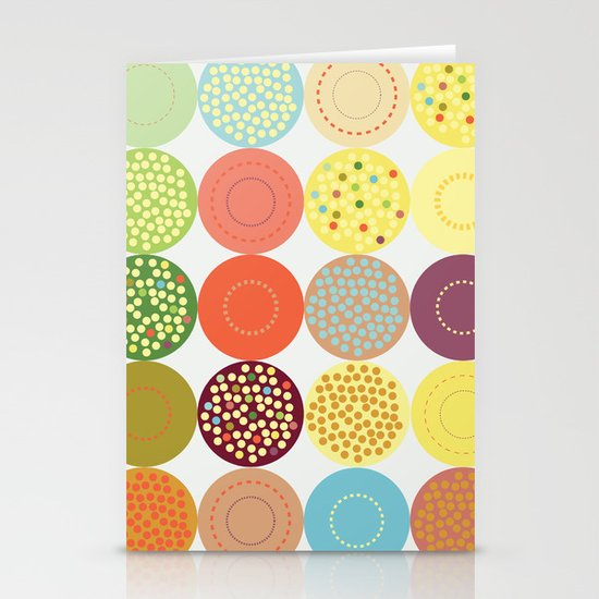 Circle pattern Stationery Card