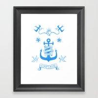 A Captain's Life  - Anch… Framed Art Print