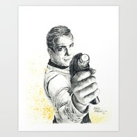 Star Trek: Capt. James T… Art Print