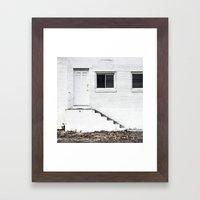 White Framed Art Print