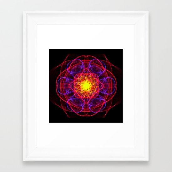 Silkweave / Neon Sigil 1 Framed Art Print