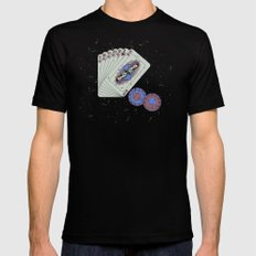 Hey boy, what's your game SMALL Mens Fitted Tee Black