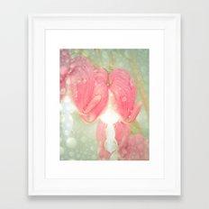 Dew in the Morning -  Bleeding Heart Flower Photography Framed Art Print