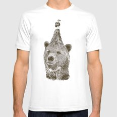 Bear Mens Fitted Tee White SMALL