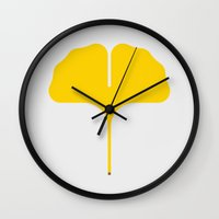 Ginkgo Leaf Wall Clock