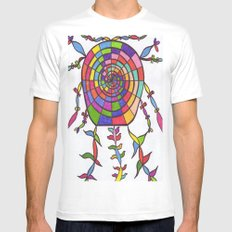 THE NIGHT WATCHER Mens Fitted Tee SMALL White