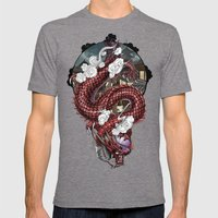 Japanese Dragon 竜 Mens Fitted Tee Tri-Grey SMALL