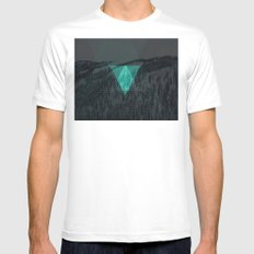 The 100 (digital winter) Mens Fitted Tee White SMALL