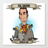 Seal Coaching (Nicholas Cage) Canvas Print