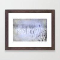 Cormorants in the fog Framed Art Print