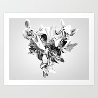 Twist Of Heart - White Art Print