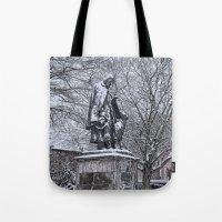 Tennyson in the Snow Tote Bag