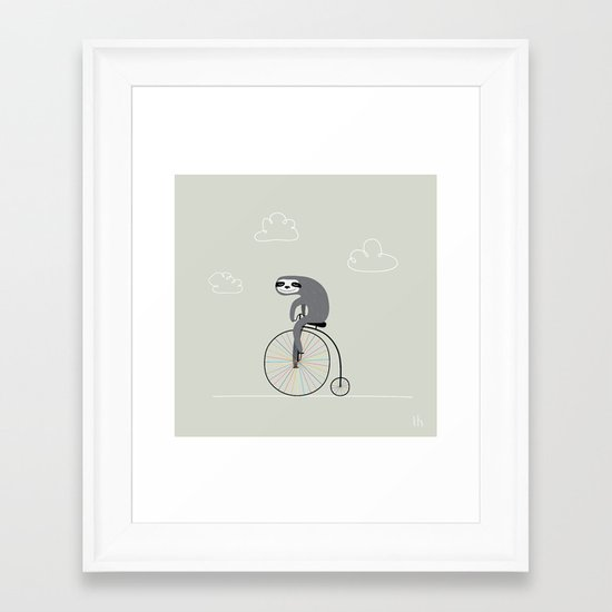 The Happy Ride Framed Art Print
