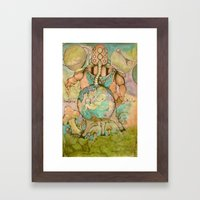 Vulnerable God II-Gravity Framed Art Print
