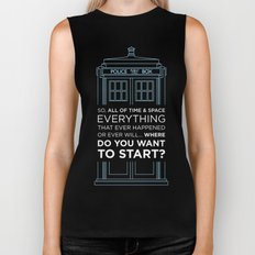 Doctor Who - TARDIS Where Do You Want to Start Biker Tank