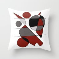 Abstract #124 Throw Pillow
