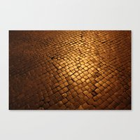 paving stone gold Canvas Print
