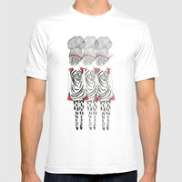 Butterfly Girl Mens Fitted Tee White SMALL