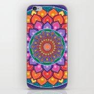 iPhone & iPod Skin featuring Lotus Rainbow Mandala by Elspeth McLean