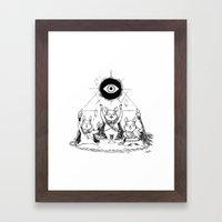 Three Blind Mice Framed Art Print