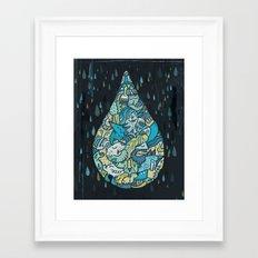 If heaven were a drop of rain Framed Art Print