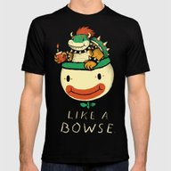 Like A Bowse Mens Fitted Tee Black SMALL