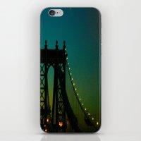 Brooklyn Bridge at Night iPhone & iPod Skin