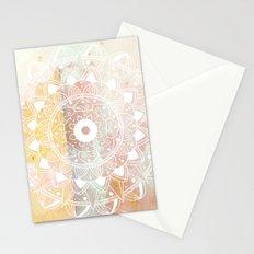 WHITE MANDALA Stationery Cards