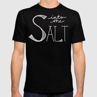 Into The Salt Mens Fitted Tee Black SMALL