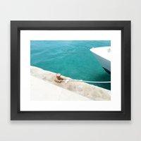 Boat Green Framed Art Print