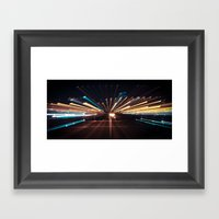 Night Speed Framed Art Print