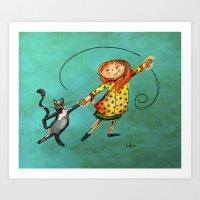 Happy Dancing Art Print