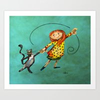 Happy Dancing Art Print
