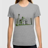 Taj Mahal Womens Fitted Tee Athletic Grey SMALL