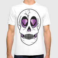 Diemun' Eyes Mens Fitted Tee White SMALL