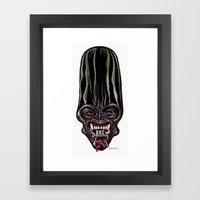 Heads of the Living Dead  Zombies: Alien Queen Zombie Framed Art Print