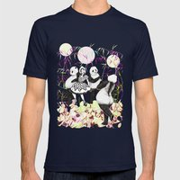 Panda Dance Mens Fitted Tee Navy SMALL