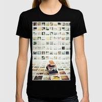 Polaroid Wall Womens Fitted Tee Black SMALL