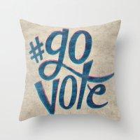 #GoVote Throw Pillow