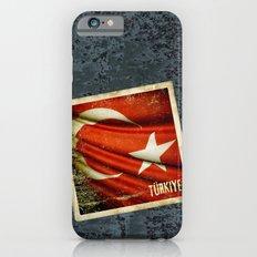 Grunge sticker of Turkey flag Slim Case iPhone 6s