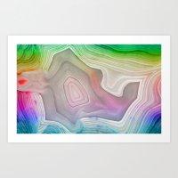 MINERAL RAINBOW Art Print