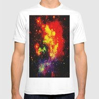 GALAXIES Mens Fitted Tee White SMALL