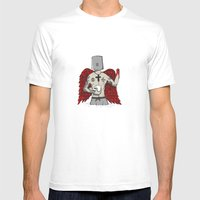 ANALOG zine wings Mens Fitted Tee White SMALL
