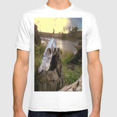 Trail Marker Mens Fitted Tee SMALL White