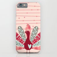 iPhone & iPod Case featuring Garden Peacock by shiny orange dreams