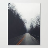 Quiet Drive Canvas Print