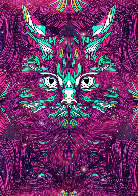 Space Cat (Feat. Bryan Gallardo) Art Print