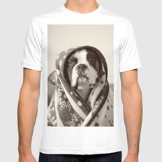 Obi Wan (Buck the world's most lovable boxer dog) White Mens Fitted Tee SMALL