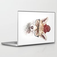 lady gaga Laptop & iPad Skins featuring It's pretty cold outside by Robert Farkas