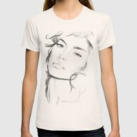 Sofia Benedetto Womens Fitted Tee Natural SMALL